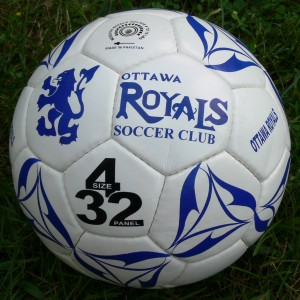 Ottawa Royals Soccer Club size 4, 32-panel regulation soccer ball