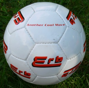 32-panel regulation soccer ball with custom corporate logo